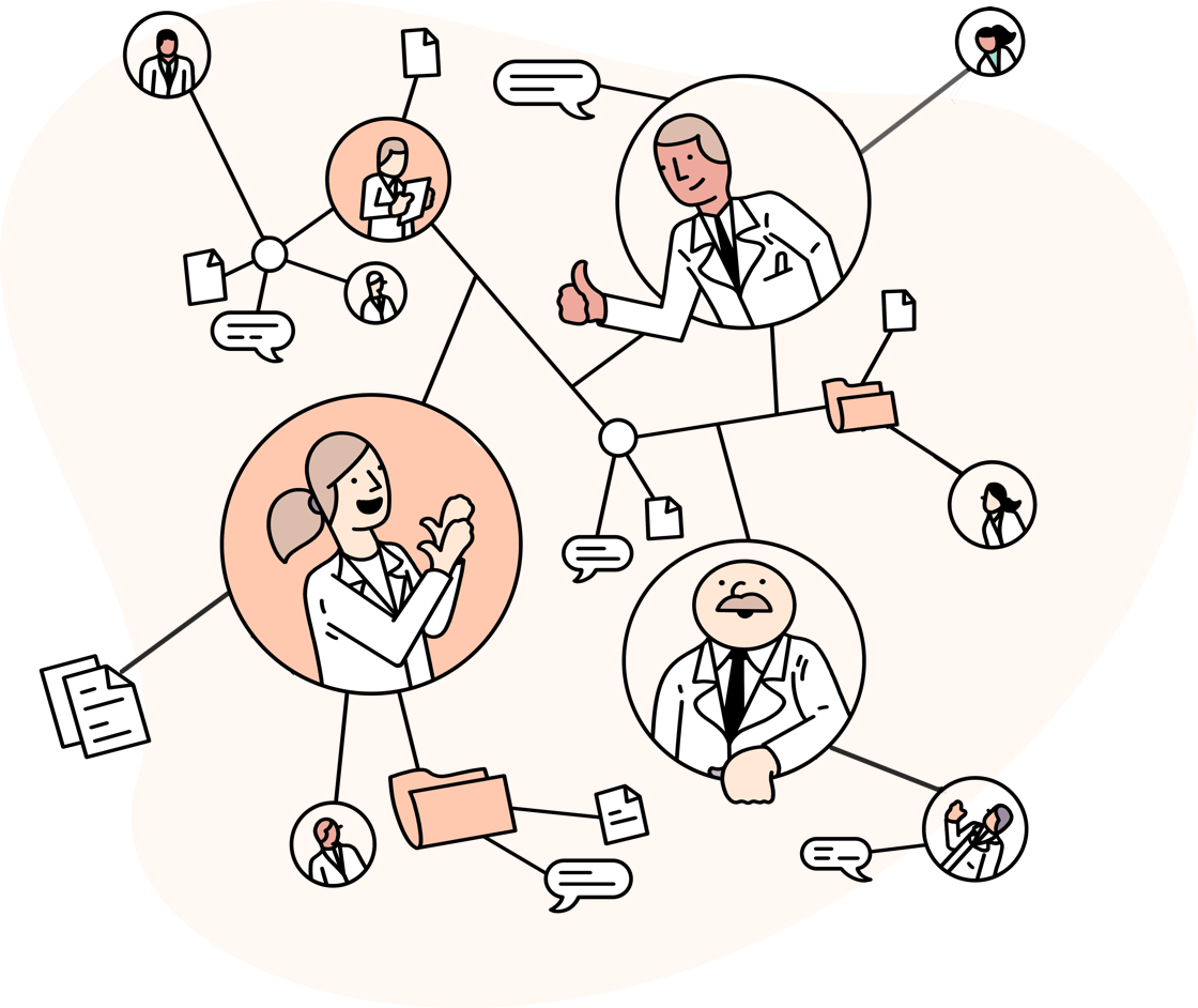 Illustration of doctor network