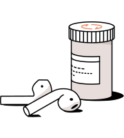 meds with airpods